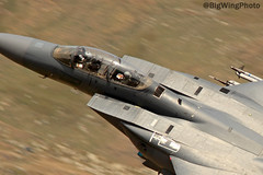 F15 Strike Eagle 3 (BigWingPhoto) Tags: united states air force usaf mcdonnell douglas f15 lakenheath 48th wing 492nd squadron fighter jet fast military aviation lfa7 nwmta wales snowdonia mountain llyn ogwen valley a5 pass uk low level flying photos canon 7d 300f4l 14x
