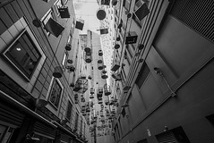 DSC01259 (Damir Govorcin Photography) Tags: the bird cages angel place sydney cbd blackwhite monochrome buildings wide angle art sony a7ii zeiss 1635mm composition
