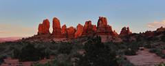 Utah Sunsets (csnyder103) Tags: archesnationalpark sunset light red orange pano utah landscape canoneosm5 canonefm1122