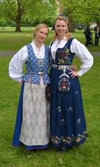 Two Pretty Norwegian Ladies in Traditional Costume, Norway's National Day, Southwark Park, London (barry.marsh1944) Tags: pretty norwegian ladies traditional costume southwark park london