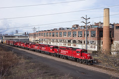Quintet of ECO's - Menands, NY (CWentzell Photography) Tags: cp canadianpacific menands newyork state unitedstates gp20eco motivepower locomotives engines canon 2019 canon40mm adobe adobelightroom coloniemain kenwoodyard albany railroad railway rails track freight
