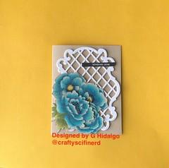 Flowers on trellis (Craftyscifinerd) Tags: simonsaysstamp sssck handmadecards cardmaker cardmakinghobby tarjeteria paperart papercrafting sssflickrchallenge123