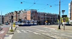 """En verder naar eigen route"" (Peter ( phonepics only) Eijkman) Tags: amsterdam city gvb detour omleiding tram transport trams tramtracks trolley bn trapkar rail rails strassenbahn streetcars nederland netherlands nederlandse noordholland holland"