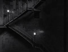 The deeper you go, the darker it gets (michael_hamburg69) Tags: hamburg germany deutschland hafen harbour harbor unterwegsmitchristian phototourmit3daybeard3tagebart alterelbtunnel river elbe tunnel oldriverelbetunnel elbtunnel unterführung fusgängertunnel kfztunnel stair stairway stairs treppe stufen stpaulielbtunnel 1911 monochrome dark thedeeperyougothedarkeritgets lamp laterne lampe leuchte