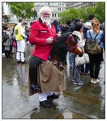 Got The Trots (donbyatt) Tags: london westminster morrisdancing trafalgarsquare rain wet people candid street dancing dayofdance2019