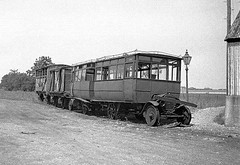 Ford Railbus at Selsey 1935 (Tilt Cab Man) Tags: railmotor railbus ford fordmotorcompany colonelstephensrailways holmanfredstephens thehundredofmanhoodselseytramway westsussexlightrailway selsey chichester westsussex colonelstephens