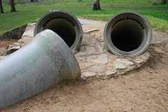 Concrete Pipe Tunnels (StephenMitchell) Tags: belair park playground concrete tunnels