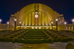 Cincinnati Museum Center at Union Terminal, 1301 Western Avenue, Cincinnati, Ohio, USA / Built: 1933 / Architects:  Alfred T. Fellheimer, Steward Wagner, Paul Philippe Cret, Roland Wank / Architectural Style: Art Deco / Designated NHL: May 5, 19779 (2) (Photographer South Florida) Tags: cincinnati ohio usa cityscape city urban downtown density skyline skyscraper building highrise architecture centralbusinessdistrict hamiltoncounty cosmopolitan metropolis metropolitan metro commercialproperty buckeyestate realestate tallbuilding commercialdistrict commercialoffice residential condominium carewtower greatamericantower ohioriver mtadams pricehill pnctower fountainsquare proctergamble newport kentucky covington cincinnatiunionterminal ludlow kentoncounty mtechopark riverboat scrippscenter riverfront skystarobservationwheel metrocincinnati cincinnatimuseumcenteratunionterminal 1301westernavenue built1933 alfredtfellheimer stewardwagner paulphilippecret rolandwank artdeco may51977