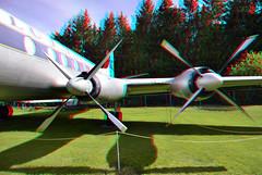 Vickers 814 Flugausstellung Hermeskeil 3D (wim hoppenbrouwers) Tags: flugausstellung hermeskeil 3d anaglyph stereo redcyan vickers814viscount prop airplane aircraft vliegtuig flug