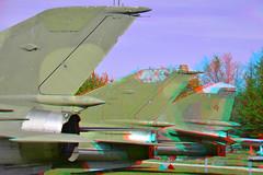 Flugausstellung Hermeskeil 3D (wim hoppenbrouwers) Tags: flugausstellung hermeskeil 3d anaglyph stereo redcyan fighters aircrafts jets 3