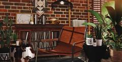Green thumb (Alexa Maravilla/Spunknbrains) Tags: loftaria madras 6republic applefall dadvirtualliving minimal trompeloeil secondlife indoors plants ottoman chair furniture decor decoration virtual virtualworld sl photography