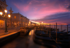 Venetian paths 163(Lights in San Marco) (Maurizio Fecchio) Tags: venice venezia lights sunrise morning clouds sky city cityscape longexposure architecture famous place san marco haidafilters haidafiltersitalia haida nikon d7100 reflections bridge water canal travel tranquility