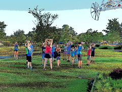 P5091421 (photos-by-sherm) Tags: 5k run runs mile cameron art museum wilmington nc north carolina spring fundraiser crowds children runners