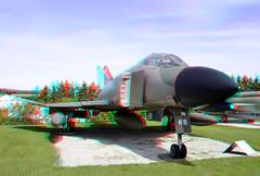 Phantom II 3D (wim hoppenbrouwers) Tags: phantomii 3d anaglyph stereo redcyan flugausstellung hermeskeil mcdonnell f4c plane straaljager aircraft
