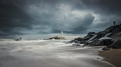 More Mary (ianbrodie1) Tags: st mary lighthouse coastline coast whitley bay seascape sea water nikon sunrise stormy clouds rocks drama