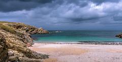 Belle-Ile-En-Mer - Plage du Tombolo (François Leroy) Tags: françoisleroy france bretagne morbihan belleileenmer pointe poulains mer rocher plage sable ciel nuage