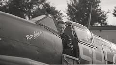 Spitfire Scramble (Bernie Condon) Tags: uk british shuttleworth collection oldwarden airfield airshow display aviation aircraft plane flying vickers supermarine spitfire warplane fighter raf royalairforce fightercommand ww2 battleofbritian military preserved vintage