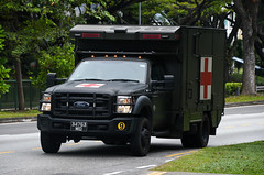 Singapore Armed Forces Ford F550 Combat Ambulance (nighteye) Tags: singaporearmedforces saf ford f550 combat ambulance 34763mid singapore