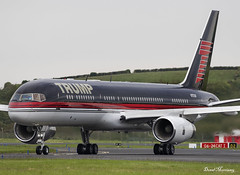Trump 757-200 N757AF (birrlad) Tags: shannon snn international airport ireland aircraft aviation airplane airplanes arrival arriving landing landed runway taxi taxiway trump boeing b757 b752 757 757200 7572j4 n757af
