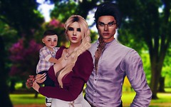 """""""Rejoice with your family in the beautiful land of life."""" —Albert Einstein (Anastassiana) Tags: sl secondlife virtualworld maitreya genus catwa zoopy animesh baby family love mommy daddy kids"""