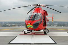 London's Air Ambulance at the Royal London Hospital (kertappa) Tags: img1850 air ambulance londons london hems doctor paramedics hospital glndn emergency helicopter kertappa royal whitechapel