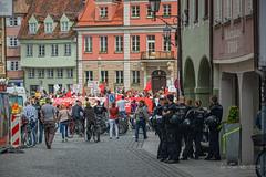 Memmingen - Downtown Demo (Bana Peter) Tags: germany deutschland bana nikon 2019 city police polizei memmingen downtown altstadt demonstration people hdr bayern antifa
