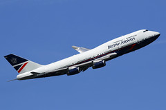 G-BNLY British Airways 'Landor' Boeing 747-436 departing London Heathrow on 13 May 2019 (Zone 49 Photography) Tags: aircraft airliner aeroplane may 2019 london england egll lhr heathrow airport ba baw british airways boeing 747 436 gbnly retro landor