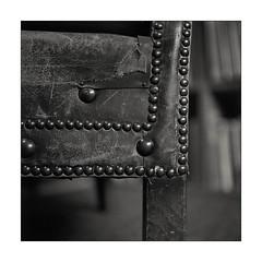 The beloved old chair (K.Pihl) Tags: chair old planar75mmrolleiflex blackwhite schwarzweiss film rolleiflex35e rodinal1100 rolleinar2 leather standdevelopment pellicolaanalogica closeup bw worn analog monochrome
