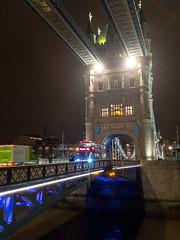 Tower Bridge at Night (Mister Electron) Tags: apple appleiphonese england london mobile riverthames thames uk architecture capital city iphonese mobilephone phonecam river urban towerbridge