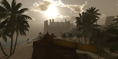 Sanctuary view from Zantosa (G. Inc.) Tags: firestorm secondlife fantasy 3d metaverse rendering avatar sl lindenlab virtualworld virtualreality vrsecondliferegionzantosasecondlifeparcelzantosaunitymaximdarkrpsimsecondlifex188secondlifey29secondlifez32