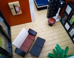 Orange Beach House MOC. Living room. (betweenbrickwalls) Tags: lego afol moc interior interiordecor interiordesign design