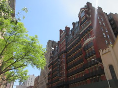 2019 Chelsea Hotel - 222 West 23rd Street NYC 8668 (Brechtbug) Tags: 2019 chelsea hotel reopening month or 222 west 23rd street between 7th 8th avenues nyc 05182019 new york city architecture sign signs built 1884 1885 twelvestory redbrick building that is now was one citys first private apartment cooperatives designed by philip hubert style described queen anne revival victorian gothic features include flower ornamented iron balconies facade grand staircase it tallest