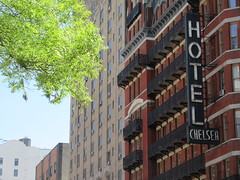 2019 Chelsea Hotel - 222 West 23rd Street NYC 8664 (Brechtbug) Tags: 2019 chelsea hotel reopening month or 222 west 23rd street between 7th 8th avenues nyc 05182019 new york city architecture sign signs built 1884 1885 twelvestory redbrick building that is now was one citys first private apartment cooperatives designed by philip hubert style described queen anne revival victorian gothic features include flower ornamented iron balconies facade grand staircase it tallest