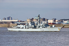 'HMS Northumberland' 18th May 2019 (John Eyres) Tags: f238 hms northumberland arriving mersey for four day visit 180519 launched 1992 she is now 27 years old but isnt due retirement until 2029 because delays with type 23 replacement royal navy
