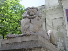 2019 Lion Under Shady Branches New York Public Library 8731 (Brechtbug) Tags: 2019 lions new york public library statues lion hanging shadows 42nd street 5th avenue nyc 05182019 may springtime soon spring weather eventually animal cat feline statue sculpture art cats ave st gargoyles gargoyle reclining repose resting facade stairs front entrance
