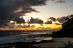 Silky Sea at Snapper (armct) Tags: snapper rocks beach sand pandanus sky reflection waves surf horizon skyline diagonal goldcoast queensland morning early silky shimmer longexposure 2470mm nikon d810