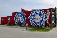 Home Run Mural, Omaha, NE (Robby Virus) Tags: omaha nebraska ne justin queal home run street art mural college world series