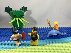 2019-138 - National Learn To Swim Day (Steve Schar) Tags: trident sea ocean swimming swim water cthulhu dolphin swimmingchampion aquaman batman learntoswimday minifigure lego iphonexs iphone project365 sunprairie wisconsin 2019