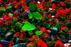 On a trip! Man. (Les Fisher) Tags: sliderssunday catchycolours beach stones glass pebbles makemesmile