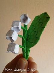 Muguet (Origaiku) Tags: origami muguet flower pixelunit modulaire modular