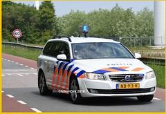 Dutch Police V70 07-2775. (NikonDirk) Tags: dutch traffic police rotterdam rijnmond politie nikondirk nederland netherlands holland nikon cop cops hulpverlening trafficpolice verkeers verkeerspolitie verkeer foto bicycle race course v70 nb911h command cycling 072775