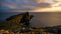Neist Point (Bastian.K) Tags: scotland uk united kingdom scottish scott schottland neist point light house lighthouse lecutturm turm tower coast sky long exposure water sea meer zeiss loxia 21mm 28 loxia2821 landscape sunset sonnenuntergang klippe cliff