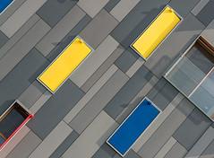 2 + 1 (jefvandenhoute) Tags: belgium belgië boom rvt light lines shapes geometric wall windows colors