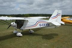 G-CEXM (IndiaEcho) Tags: gcexm skyranger 912 eghp popham airport airfield light general civil aircraft aeroplane aviation basingstoke hampshire england canon eos 1000d microlight fly in