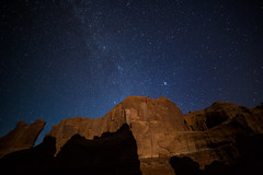 Arches National Park (aud.watson) Tags: america northamerica us usa utah moab archesnationalpark desert sandstone sand rock canyon canyons fin fins spire spires night stars nightsky milkyway