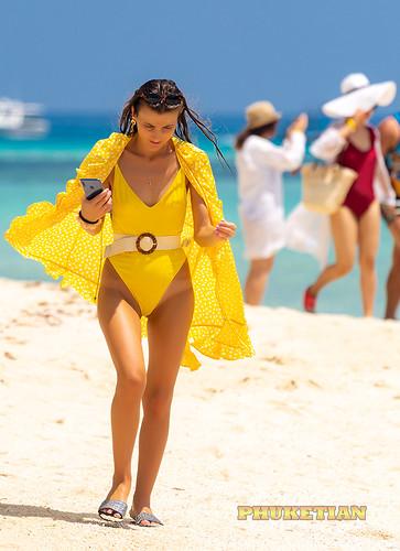Girl in a bikini on Surin island in the Andaman Sea ©  Phuketian.S