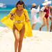 Girl in a bikini on Surin island in the Andaman Sea