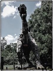 The Beast - Junkosaurus Wrecks | The Barnyard | Fischer Crossroads | Fort Payne, Alabama | View 2 (steveartist) Tags: sculpture folkartsculpture trex junkosauruswrecks mikegoggans sonydscwx220 snapseed photostevefrenkel snapseedfilters monumentalsculpture dinosaurs fortpayneal fischercrossroads