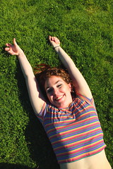 Beautiful and High 8 (Abbie Stoner) Tags: girl woman kite portrait redhead park outside