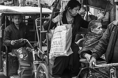 Arrived (shapeshift) Tags: delhi in alley alleys alleyways asia autorickshaw city crowded davidpham davidphamsf documentary india newdelhi olddelhi people rickshaw shapeshift southasia street streetphotography traffic transport transportation travel urban bw nikon d5600 nikond5600
